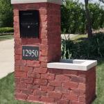 Brick Mailbox with Planter