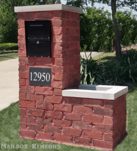 Brick Mailbox with Planter