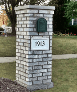 Brick Mailbox built in Joliet