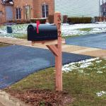 Deluxe Cedar Mailbox Post
