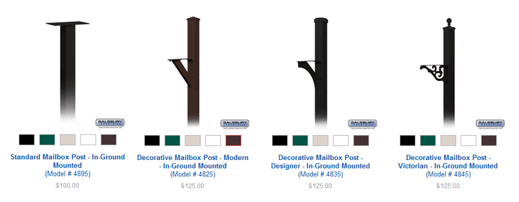 Salsbury Mailbox Posts offered by Mailbox Remedies