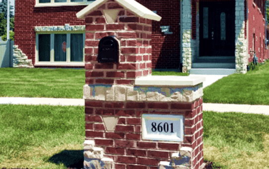 Brick Mailbox Burbank Illinois