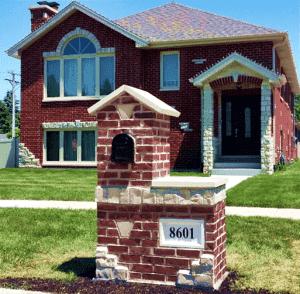 Brick Mailbox Burbank Illinois