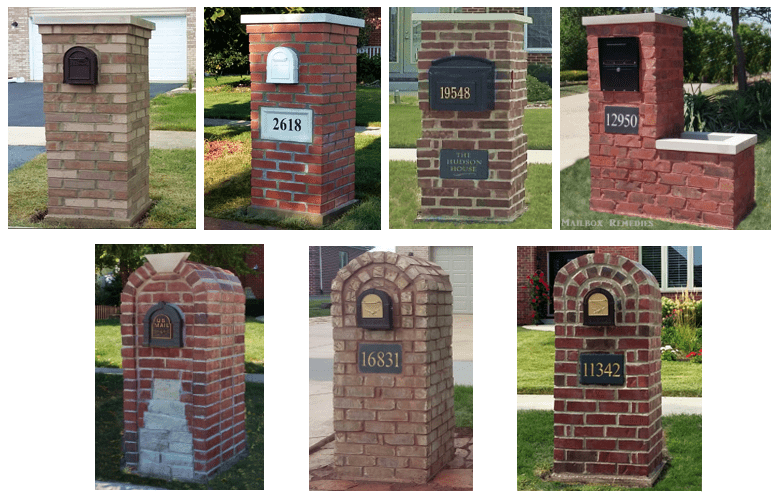 Brick Mailboxes built by Mailbox Remedies