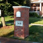 Classic Brick Mailbox New Lenox