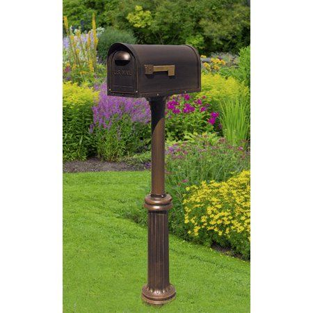 Classic Curbside Mailbox with Bradford Mailbox Post