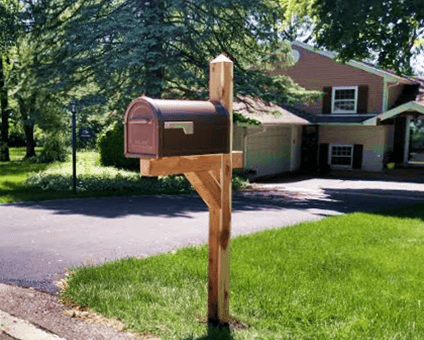 Cedar Mailbox Post Installation Wheaton